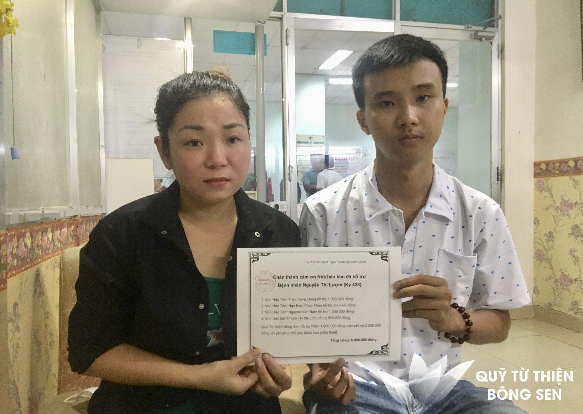 Kỳ 428:  Nguyễn Thị Lượm (sinh năm 1963) quê Long An, Điều trị đa trấn thương, hỗ trợ 6 triệu đồng ngày 16/08/2019