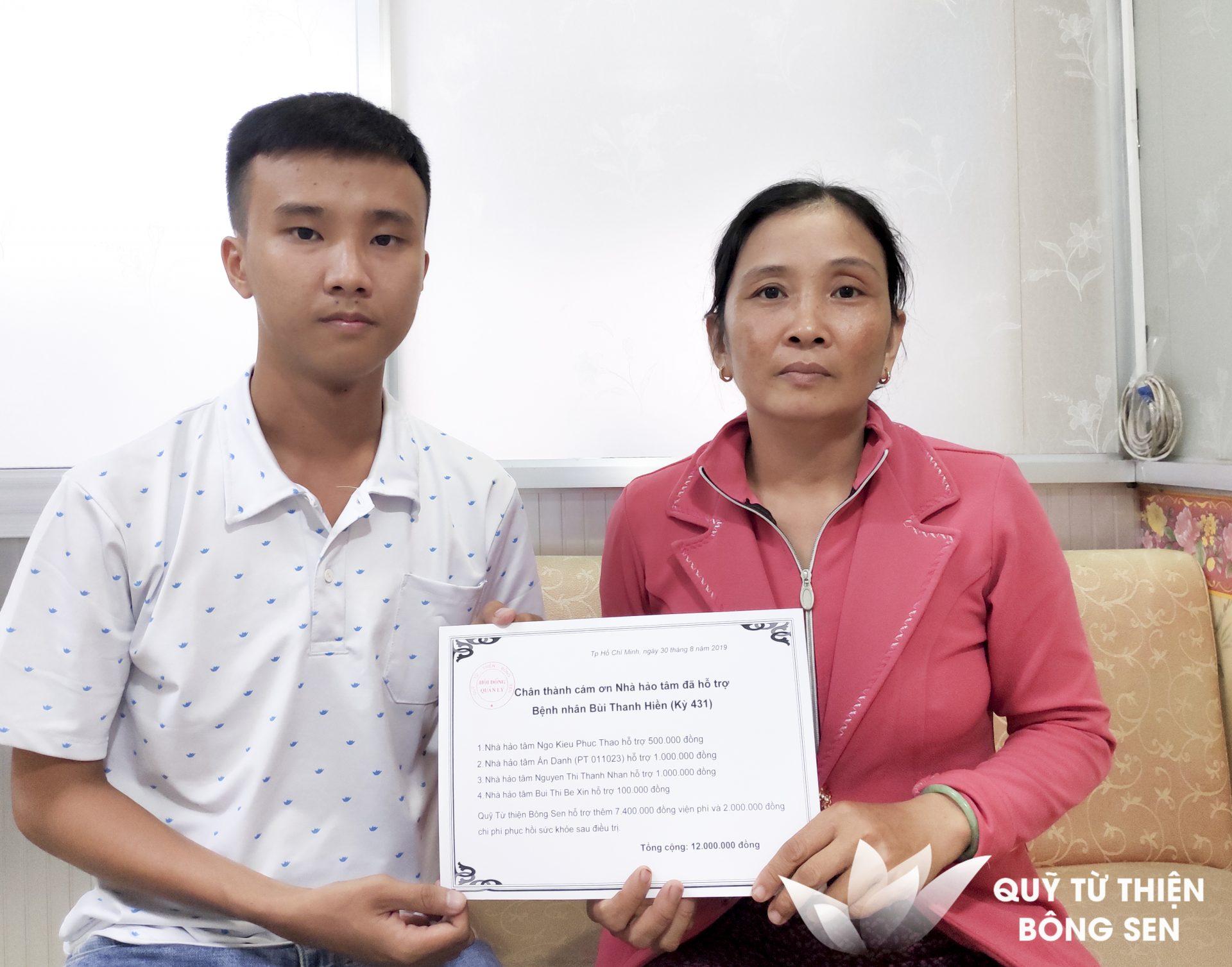 Kỳ 431: Bệnh nhân Bùi Thanh Hiền (sinh năm 1954), bạo bệnh đa chấn thương, hỗ trợ  12 triệu đồng ngày 31/08/2019
