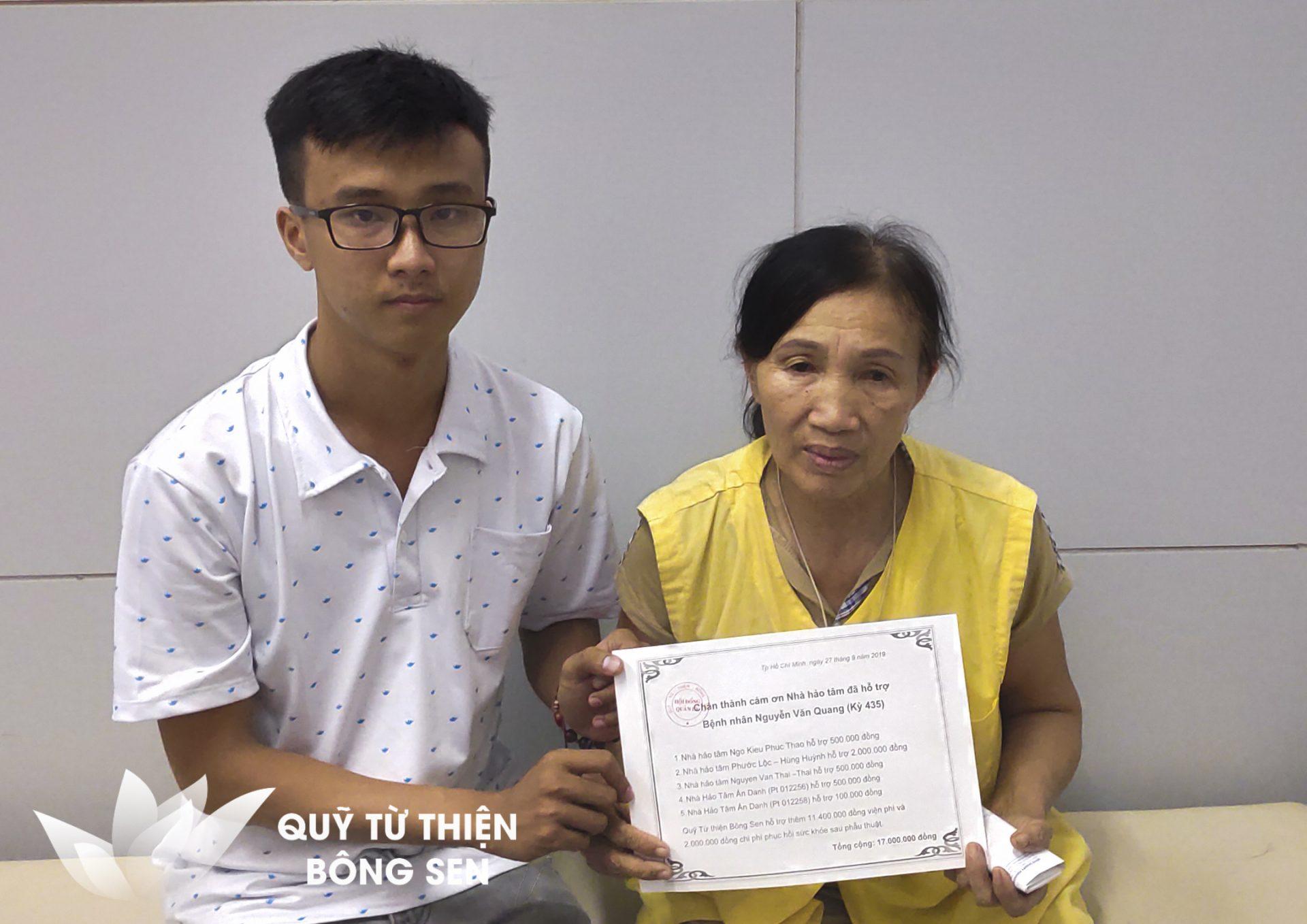 Kỳ 435: Xin giúp em Quang 15 triệu đồng điều trị khối u trong não